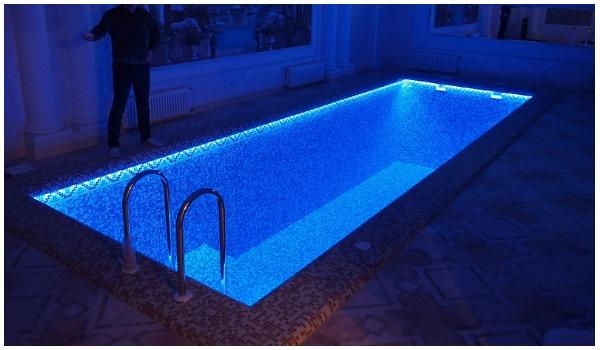 Цветное освещение для бассейна своими руками